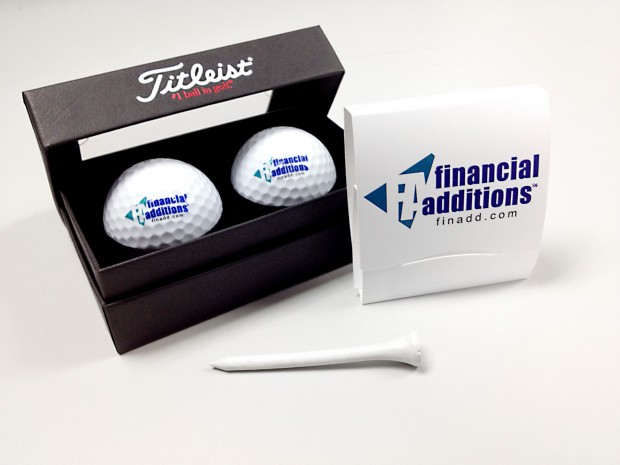 Financial Additions Golf Ball & Tees