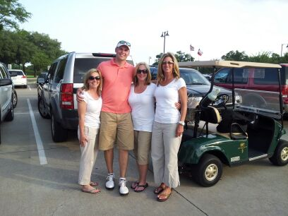 Deborah Bell, Justin Smith, Mimi Rader & Liz Turbidy of Financial Additions at the FEI Dallas Golf Tournament